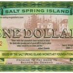 Salt Spring Dollar Bill