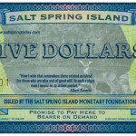 Salt Spring Five Dollar Bill