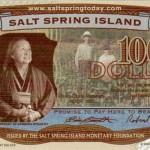 Salt Spring Dollars $100 Bill
