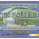 Salt Spring Dollar $$10 bill